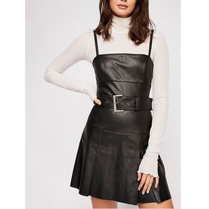 NWT Free People Sweet Talk Vegan Leather Dress Sz2